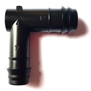 Joelho Dentado para Tubo PEBD 12mm - J12